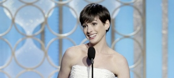 Anne Hathaway Best Supporting Actress 2013 Golden Globe Awards