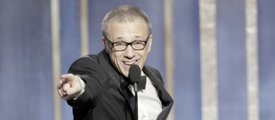 Christoph Waltz Best Supporting Actor 2013 Golden Globe Awards