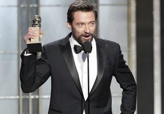 Hugh Jackman Les Miserables Best Actor 2013 Golden Globe Awards