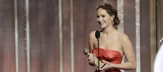 Jennifer Lawrence Best Actress 2013 Golden Globe Awards