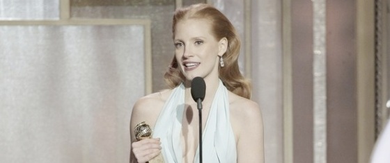 Jessica Chastain Zero Dark Thirty Best Actress 2013 Golden Globe Awards
