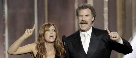 Kristen Wiig and Will Ferrell 2013 Golden Globe Awards