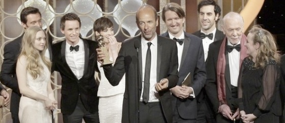 Les Miserables Best Musical 2013 Golden Globe Awards