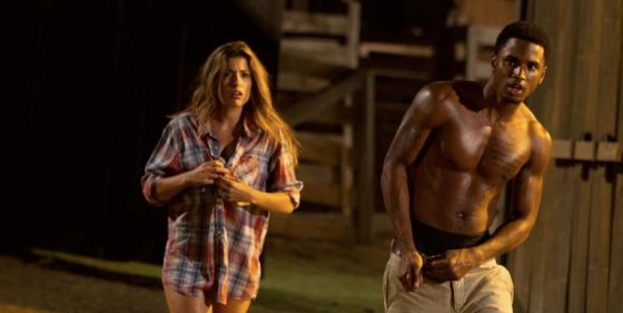 Texas Chainsaw 3D Tania Raymonde and Trey Songz