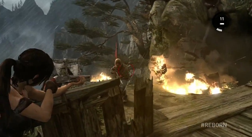 Crystal Dynamics Tomb Raider Gameplay 1 Turn The Right Corner