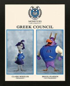 Pixar Monsters University Greek Council