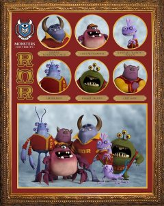 Pixar Monsters University Roar Omega Roar Fraternity