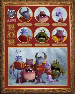 Pixar Monsters University Roar Omega Roar Fraternity