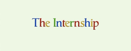 The Internship 2013 Movie Title Logo