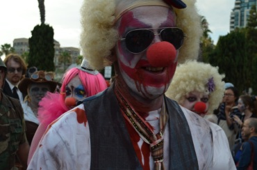 San Diego Comic Con 2013 Zombie Walk Clown 2