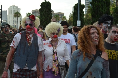 San Diego Comic Con 2013 Zombie Walk Clowns