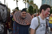 San Diego Comic Con 2013 Zombie Walk Hobo with a Shotgun