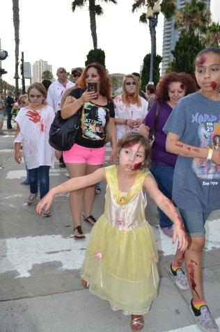 San Diego Comic Con 2013 Zombie Walk Kid