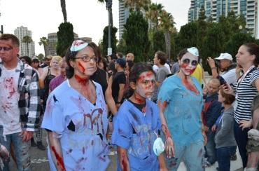San Diego Comic Con 2013 Zombie Walk Surgeons
