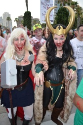 San Diego Comic Con 2013 Zombie Walk Thor and Loki
