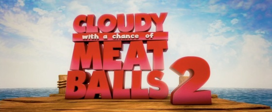 Cloudy with a Chance of Meatballs 2 Title Movie Logo