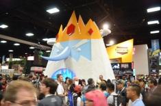 San Diego Comic Con 2013 Thursady Adventure Time Ice King Booth