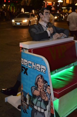 San Diego Comic Con 2013 Thursady Archer Pedi Cab