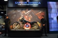 San Diego Comic Con 2013 Thursady Captain America Motorcycle Marvel Booth