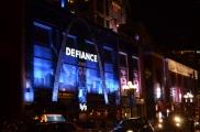 San Diego Comic Con 2013 Thursady Defiance Wall Wrap Art