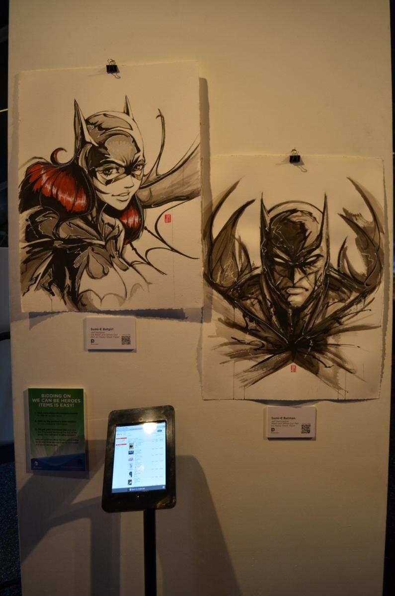 San Diego Comic-Con Batman and Batgirl Art