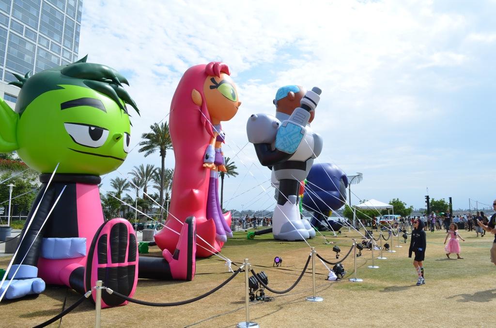 San Diego Comic-Con Teen Titans Inflatables