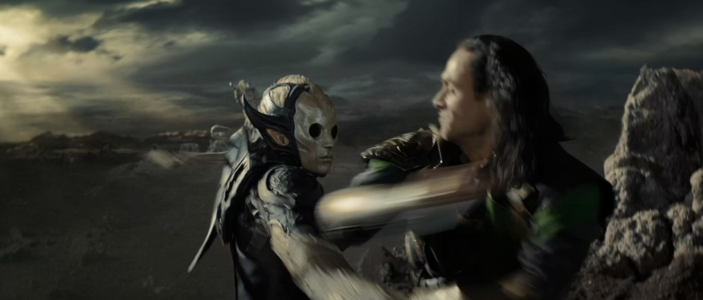 Thor The Dark World Movie Trailer Screenshot Loki and Dark Elf