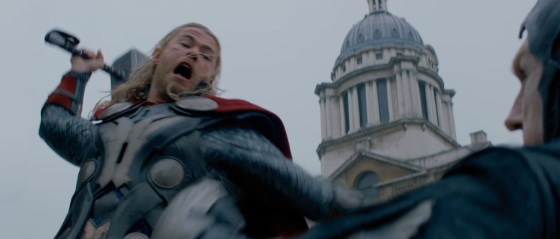 Thor The Dark World Movie Trailer Screenshot Thor Hammer