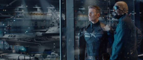 Captain America The Winter Soldier Teaser Trailer Evans and Jackson
