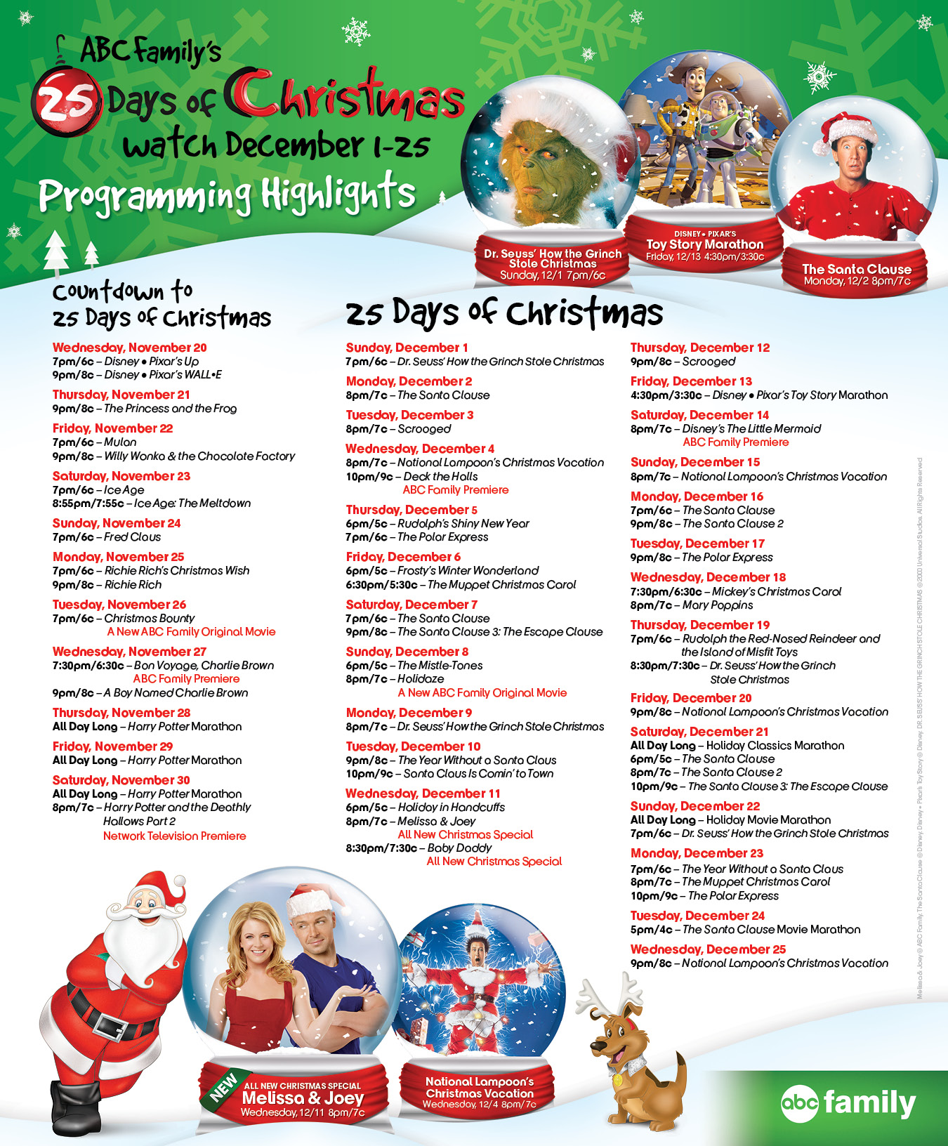 ABC Familys 25 Days Of Christmas Movie Marathon Schedule 2013