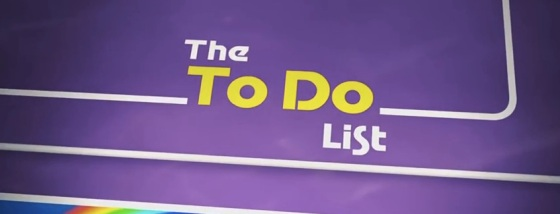 The To Do List Title Movie Logo