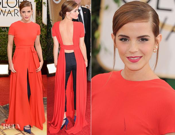 Emma Watson Golden Globes 2014