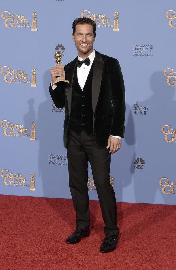 Matthew McConaughey Golden Globes 2014