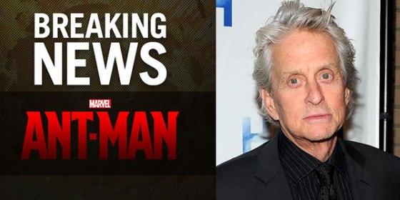Michael Douglas Official Cast as Hank Pym in Marvel's Ant-Man