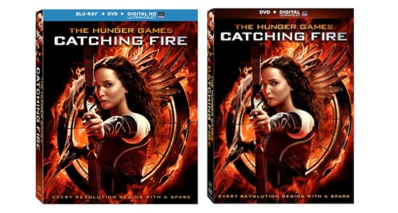 The Hunger Games Catching Fire Blu-ray DVD Box Cover Art