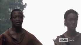 The Walking Dead Mid-Season 4 Teaser Screenshot Bob and Sasha