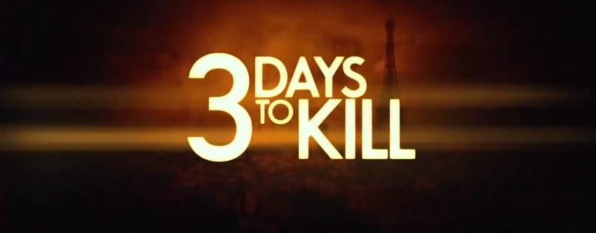 3 Days to Kill Title Movie Logo