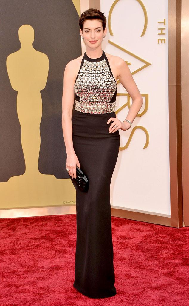Anne Hathaway 2014 Oscars Best Dressed