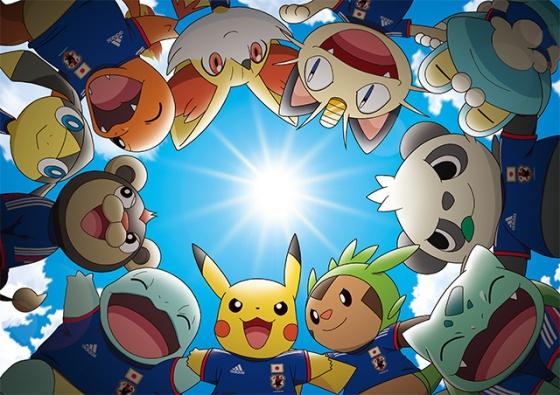 Pikachu and Pokémon World Cup 2014 Team Mascots Japan