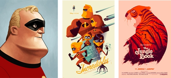 SXSW 2014 Mondo's Exclusive Disney Themed Gallery Nothing's Impossible