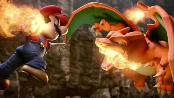 Super Smash Bros. 2014 Wii U Charizard Vs Mario
