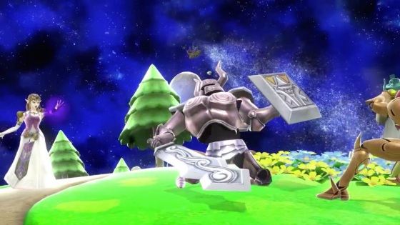 Super Smash Bros. 2014 Wii U Zelda Phantom Knight Attack