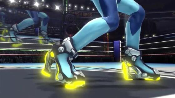 Super Smash Bros. 2014 Wii U Zero Suit Samus Jet Boots