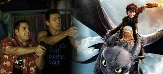 Box Office Battlefield 22 Jump Street and How to Train Your Dragon 2