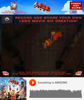 The LEGO Movie GIF Creator