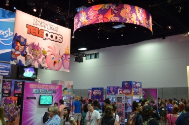Comic-Con 2014 Rainbow Rocks My Little Pony Booth