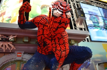 Comic-Con 2014 Spider-Man LEGO Booth 2
