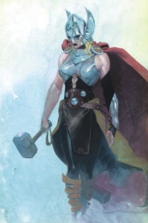 Female Thor #1 cover by Esad Ribic