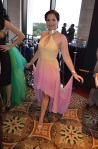 Her Universe Fashion Show Caitlin Shindler Padme Star Wars Rainbow Dress