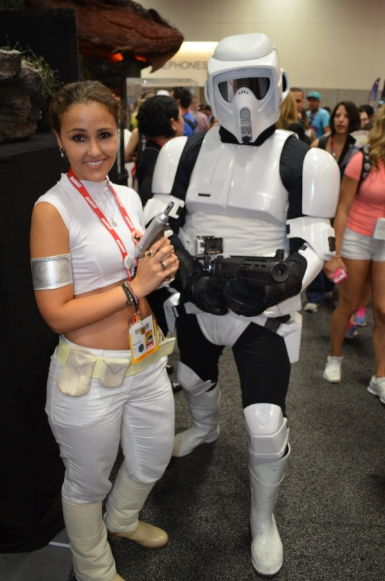 Padme and Scout Trooper